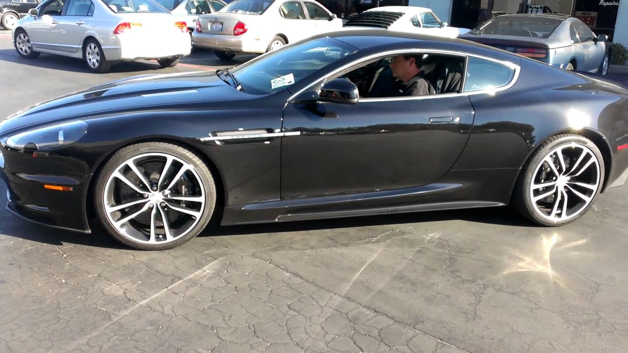 2012 Aston Martin DBS Carbon Black Edition Start & Idle - YouTube