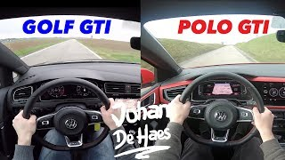 2018 VW POLO GTI VS VW GOLF GTI POV test drive