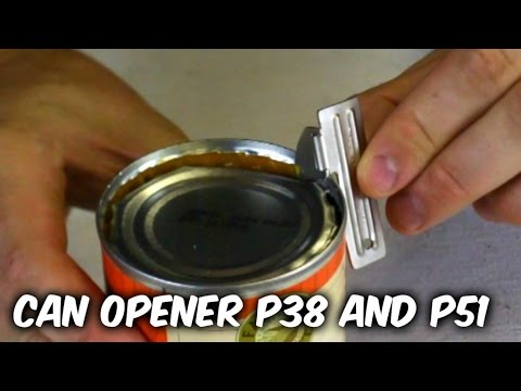 Survival Mini Can Opener P38 And P51 Test
