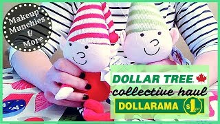 DOLLAR TREE  Haul & DOLLARAMA Haul - October 2017 🎄✨ Let's start our Christmas Crafting!