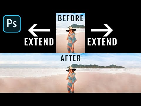 How to Extend Background Photo - Photoshop Tutorial