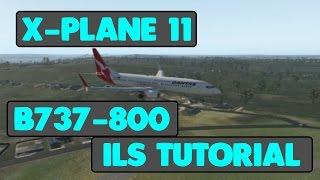 [X-Plane 11 Beta] [737-800] [Tutorial] | Using ILS to help land!