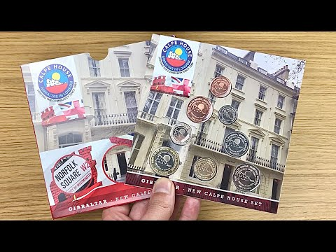 😃All The Calpe House Coins!! 2018 Gibraltar Coin Set    Unpackaging    Pobjoy Mint    2020 Video