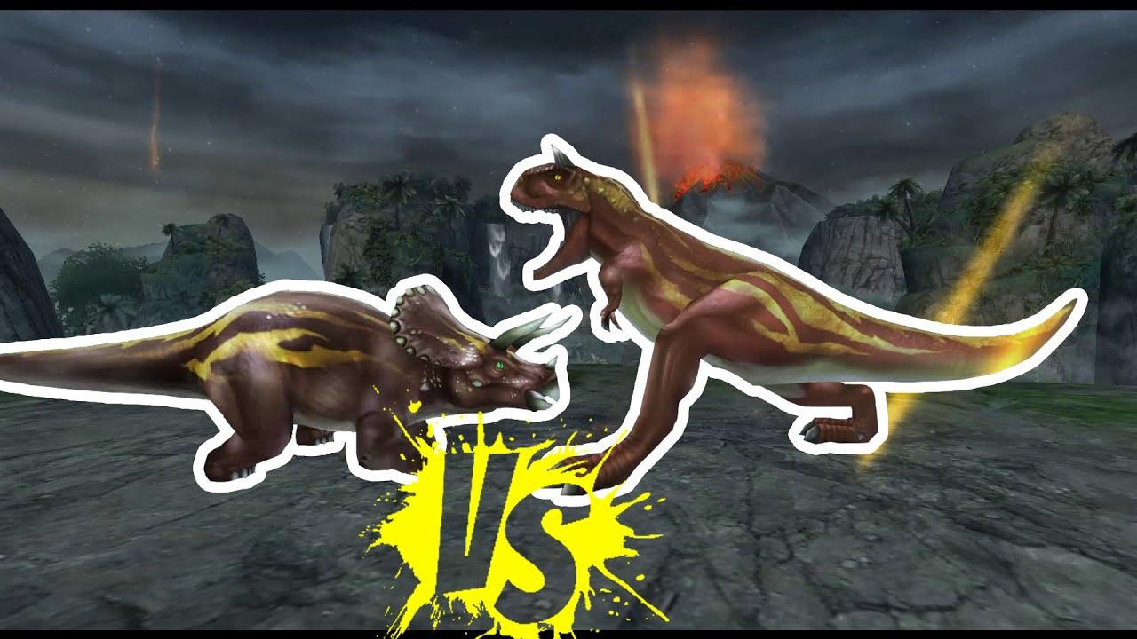 Triceratops vs. Carnotaurus - Epic Dino Battles - YouTube