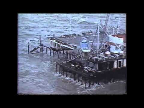 1983 Santa Monica Pier Collapse Storm TV News Coverage