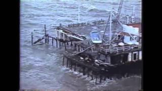1983 Santa Monica Pier Collapse Storm TV News Coverage