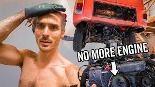 I Removed My Engine, There's No Turning Back! - Electric Camper Build Ep 2