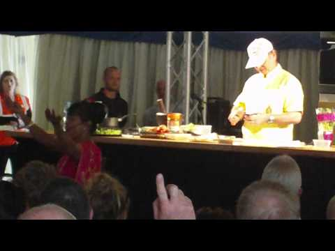 Thai Chef Ooy dancing/cooking at the Chester food show 2011 part3