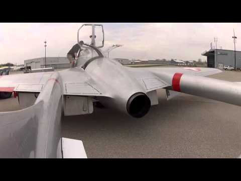 Jet Aircraft Museum's Vampire - First Engine Runs!