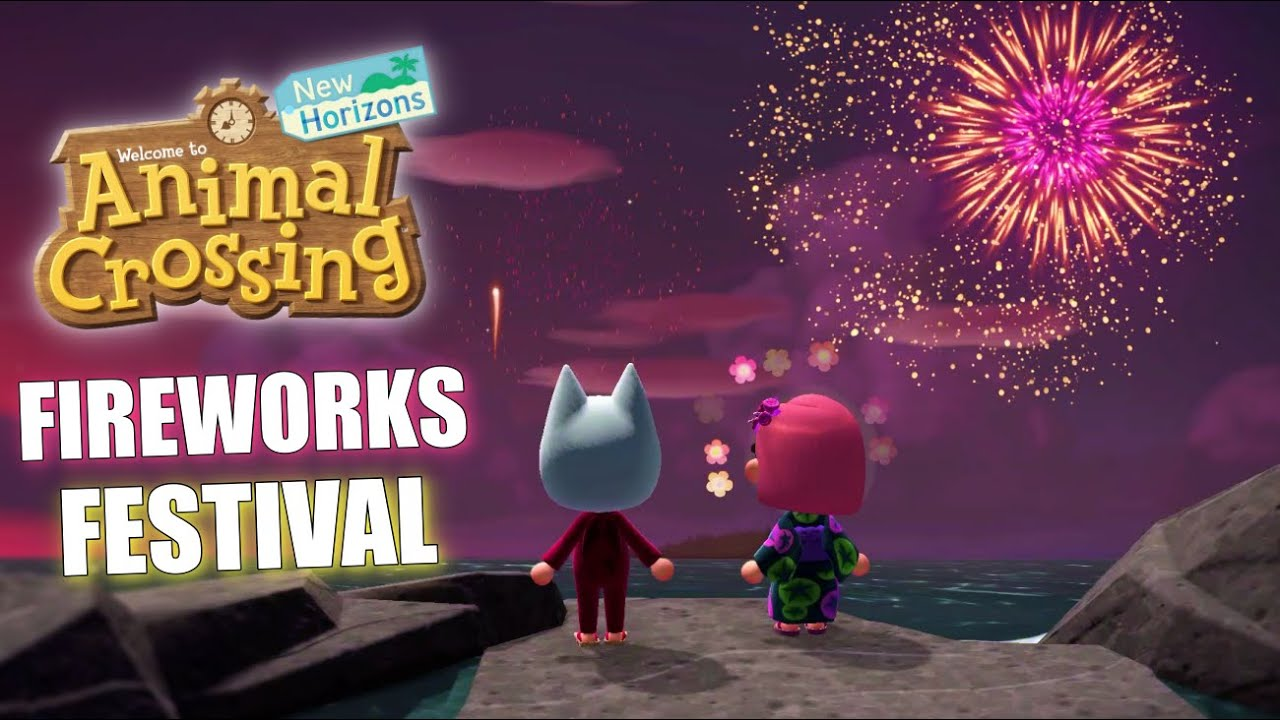FIREWORKS EVENT IN ANIMAL CROSSING