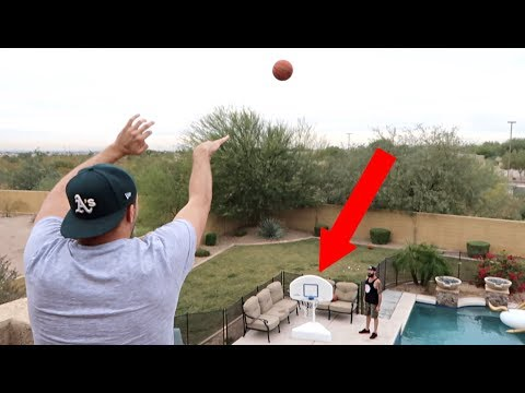 BASKETBALL TRICK SHOTS WITH DENNIS ROADY!!