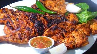 Alfaham chicken recipe - طريقة تشريح دجاج على الفحم - Chicken Grill Recipe