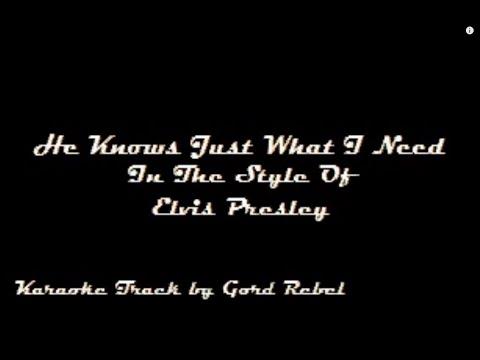 He Knows Just What I Need - Elvis Presley - Karaoke Online Version