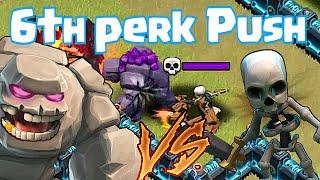 Clash Of Clans - GOLEM vs. SKELETON!! (Clan wars 6th perk pushing!!)