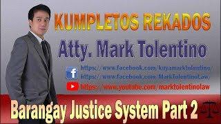 Barangay Justice System 2