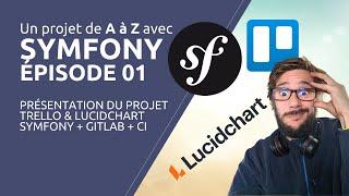 Miniature catégorie - Un projet de A à Z avec SYMFONY 5 - Épisode 01 : Présentation, Trello, LucidChart, UML, GitLab et CI