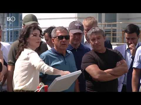 видео: Минниханов осмотрел набережную левого берега Казанки и реконструируемый НКЦ «Казань»