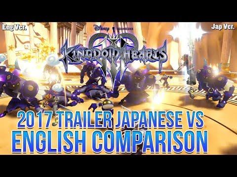 Kingdom Hearts 3 2017 Trailer - Japanese Vs English Trailer Comparison (Hidden Details)