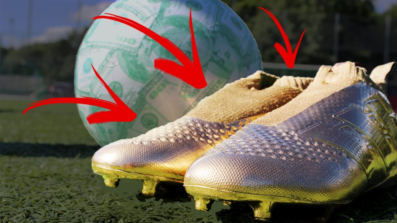 1f43529bbd75 Golden Adidas Ace Purecontrol! Most Expensive Football Gear In The World