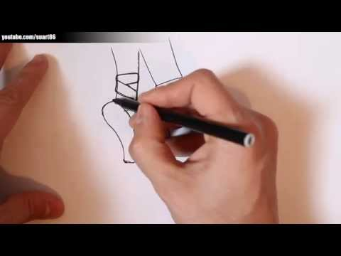How to draw a ballerina shoes