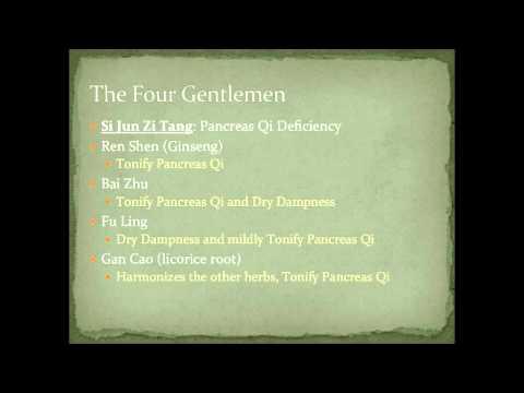 Chinese Herbal Formulas: Si Jun Zi Tang (Four Gentleman) - Tonify Spleen / Pancreas Qi