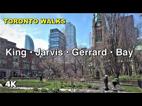 Toronto Walks - King Street East, Jarvis St, Gerrard St, Bay St [4K]