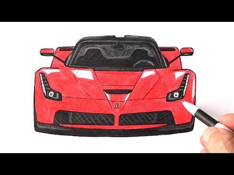 Как нарисовать машину Феррари | LaFerrari рисунок