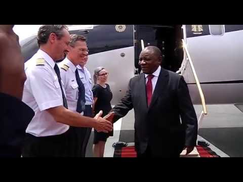 President Cyril Ramaphosa during his working visit to Angola on 2 March 2018