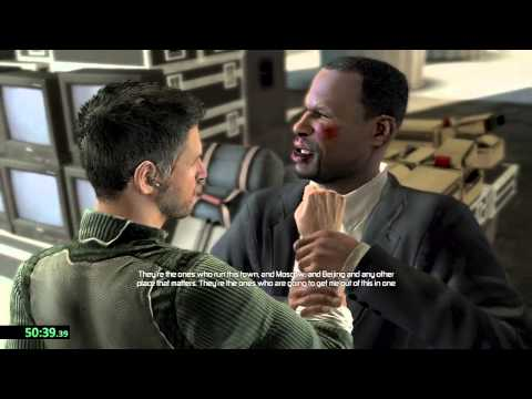 Splinter Cell Conviction Speedrun. PC, Rookie Any % in 1 Hour 29 Mins, 45 Seconds.