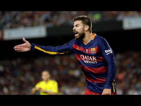 Gerard Pique Red Card - Furious with Referee - FC Barcelona vs Athletic Bilbao 1 1 thumbnail