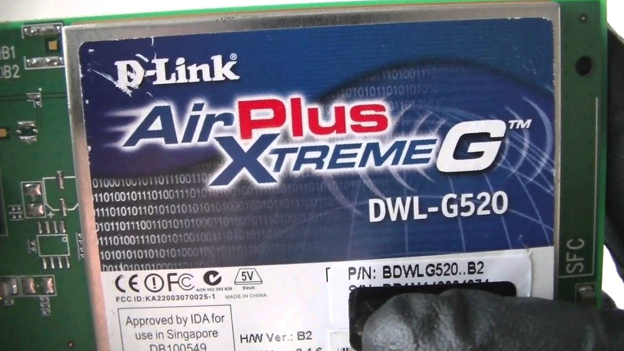 D LINK AIRPLUS XTREME G DRIVERS FOR WINDOWS XP