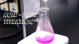 Lab Demonstration  Acid  Base Titration
