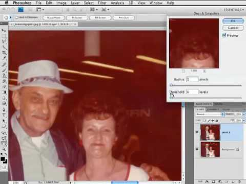 Removing Dust & Speckles from Old Photos