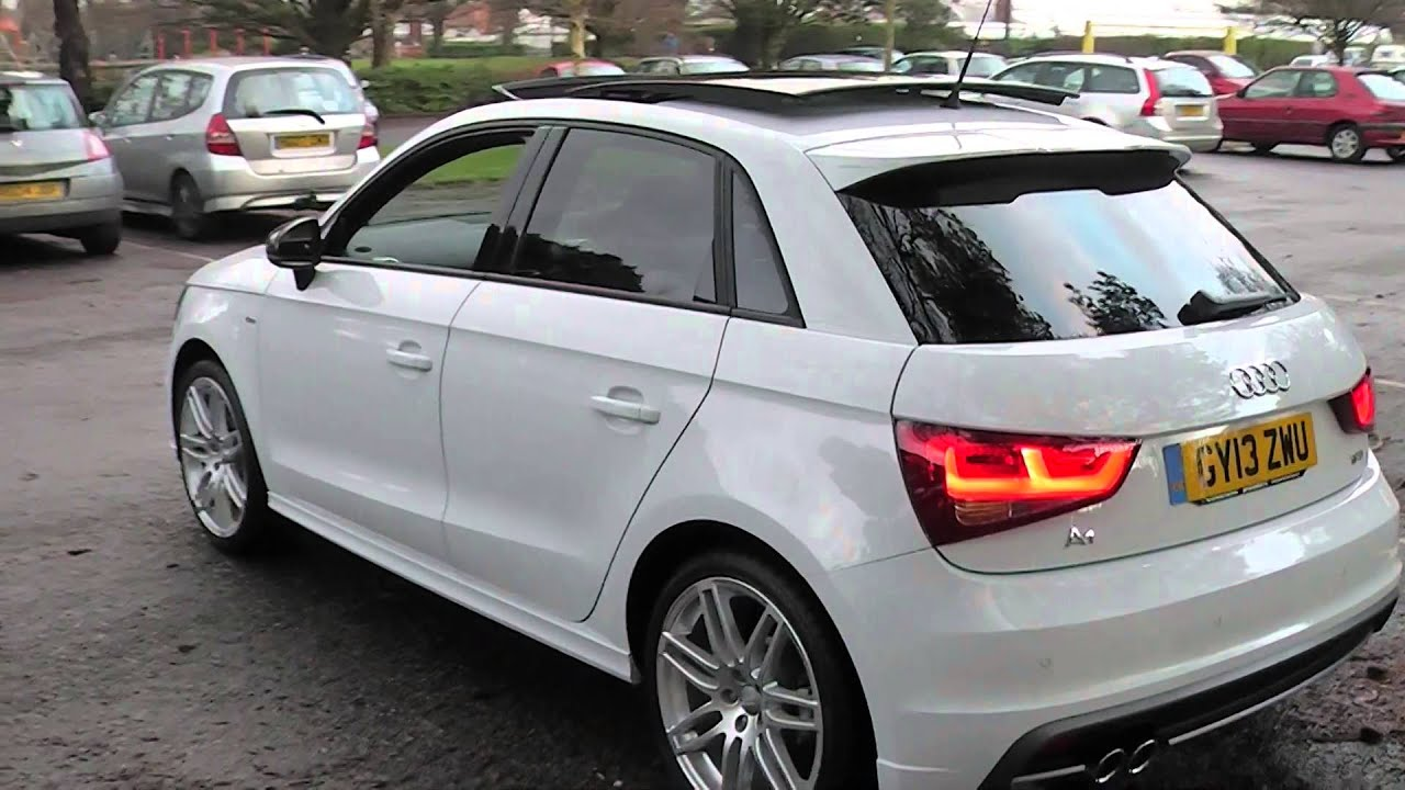 audi a1 1 4tfsi s line sportback promotors co uk youtube. Black Bedroom Furniture Sets. Home Design Ideas