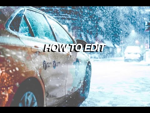 HOW TO EDIT SNOWY PHOTOS IN LIGHTROOM (Urban Photography)