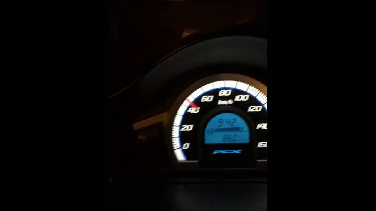 Honda PCX 150 Test Top Speed 118km - YouTube