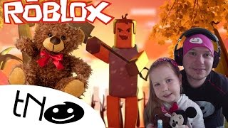 We have a teddy bear in Hello neighbour in ROBLOX | Daddy and Barunka (Hello Neighbor) CZ/SK