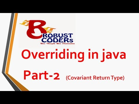 Overriding in java | covariant return type in java