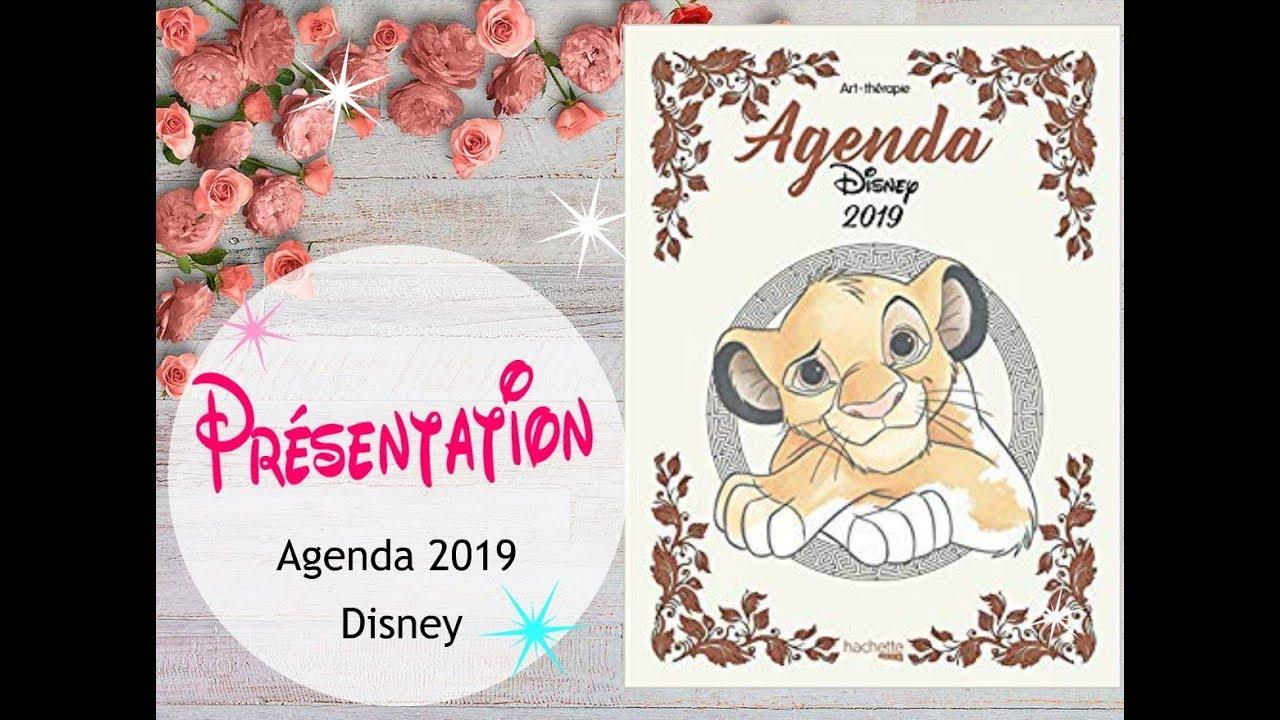 Agenda 8 Disney Hachette coloriage adulte - YouTube