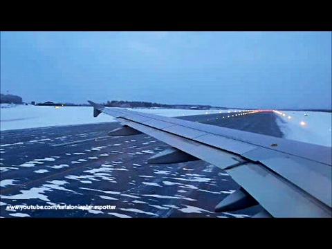 Aegean Airlines A320 | Onboard SNOWY landing @ Rovaniemi (RVM), Finland! | Incredible landscapes