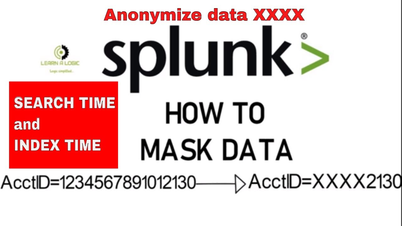 How to mask data in splunk || Both index time and search time EXPLAINED ||  Masking sensitive data