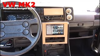 "Vw Golf Mk2 Interior II + Tablet ""Center Console"" Part 2"