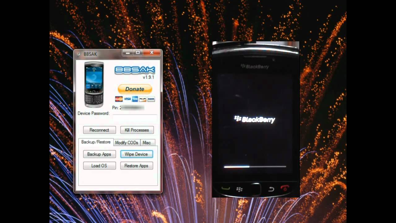 BlackBerry 302: A complete wipe and clean install of your