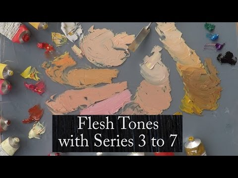 Demonstrating Flesh Tones using Michael Harding Series 3 to 7 Oil Colours, by Vicki Norman