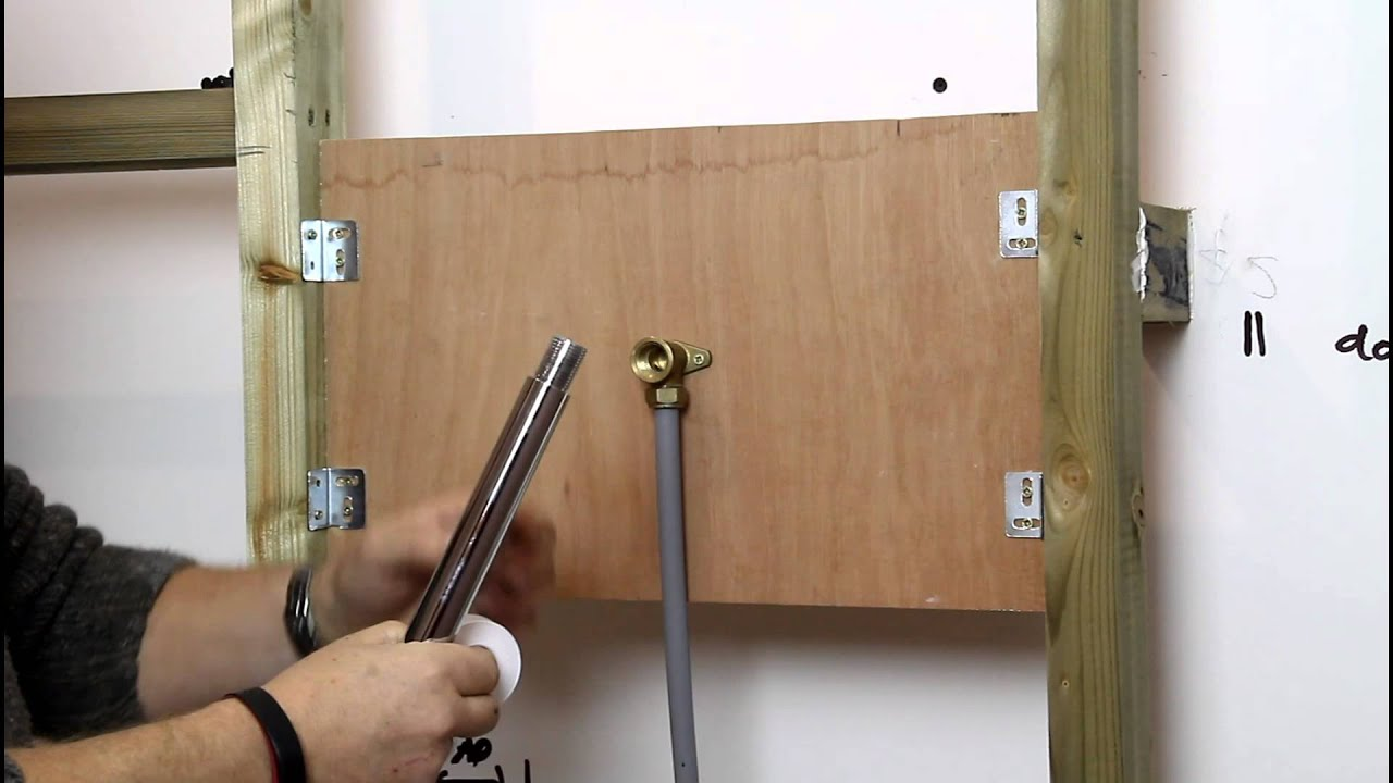 How to Install a Fixed Shower Head  YouTube