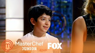 Adam Presents His Falafel Style Mediterranean Vegan Burger | Season 5 Ep. 4 | MASTERCHEF JUNIOR