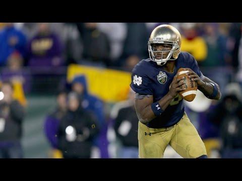 Malik Zaire (Notre Dame QB) vs LSU 2014