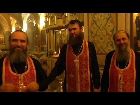Священники Никольского храма поздравляют с Пасхой!