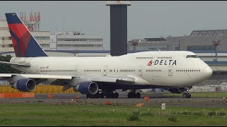 Delta Air Lines Boeing 747-400 N667US Takeoff from NRT 16R