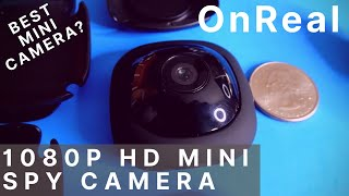 High Quality Mini Spy Camera 1080P, loop recording, by OnReal sold on Amazon